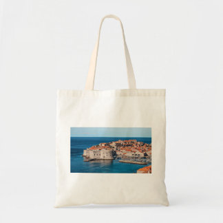 Old Themed, Ancient Village Of Castles With Red Ro Budget Tote Bag