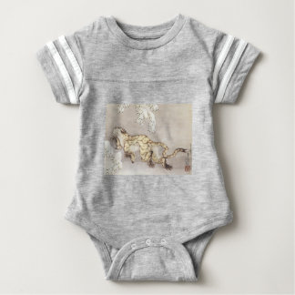 Old Tiger in the Snow Baby Bodysuit