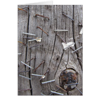 Old Timber & Rusty Staples Greeting Card