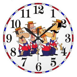 Old Time Barbershop Quartet Cartoon Clock