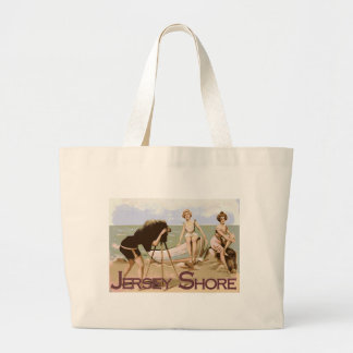 Old Time Jersey Shore Large Tote Bag
