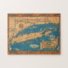 Old Time Long Island Map Puzzle