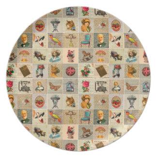 Old Time Melamine Plate