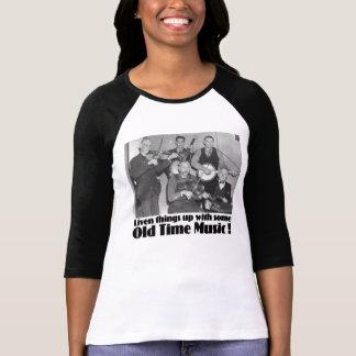Old Time Music Ladies 3/4 Sleeve Raglan T-Shirt