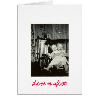 Old Time Photo - Love is afoot Card