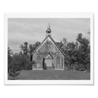 Old Time Religion B&W Photo Print