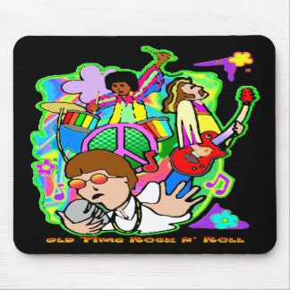 Old Time Rock N' Roll Mouse Pad