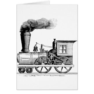 Old Time Steam Locomotive Card