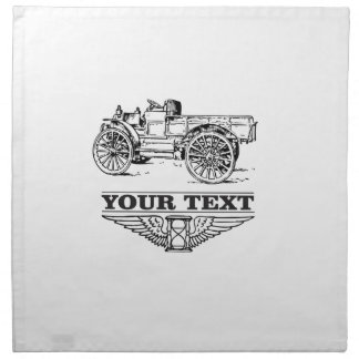 old time truck on road napkin