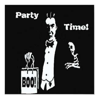 Old Time Vampire Trick-or-Treater Custom Announcement