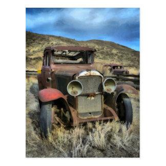 Old timer automobile postcard