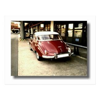Old timer car postcard