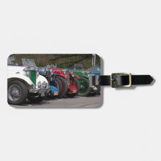 Old timer luggage tag