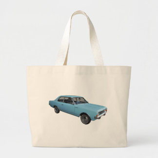 Old timer Opel Rekord Large Tote Bag