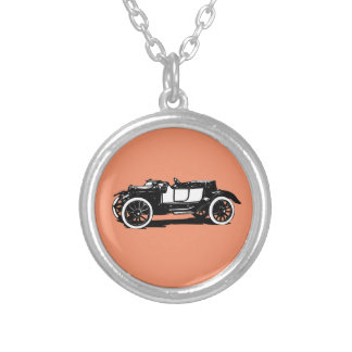 Old timer silver plated necklace