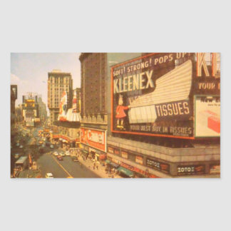 Old Times Square Rectangular Sticker
