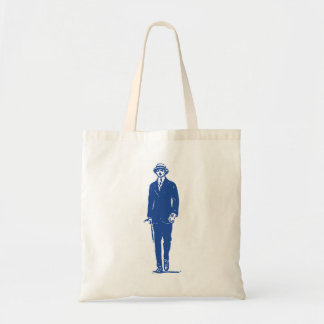 Old Timey Gentleman Tote Budget Tote Bag