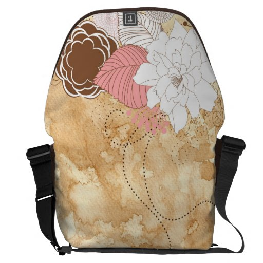Old to paper art courier bag
