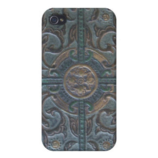Old Tooled Leather Relic Case For iPhone 4
