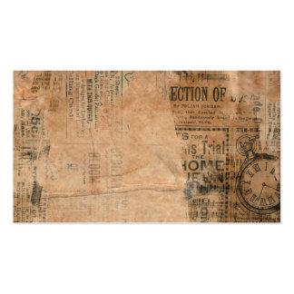 Old Torn Vintage Newspaper One Pack Of Standard Business Cards