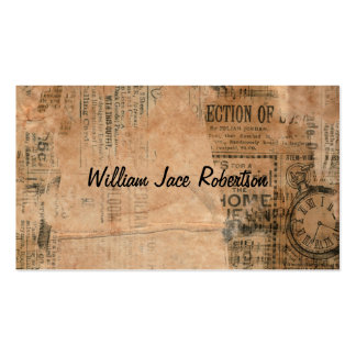 Old Torn Vintage Newspaper One Personalized Business Card Template