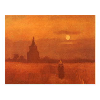 Old Tower in the Fields by Vincent van Gogh Postcard