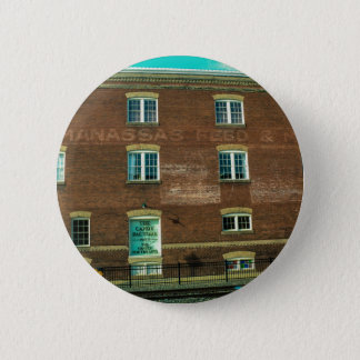 Old Town Building 6 Cm Round Badge