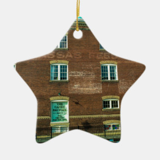 Old Town Building Ceramic Ornament