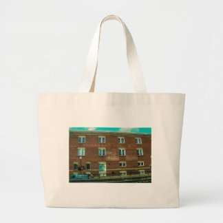 Old Town Building Large Tote Bag