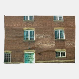 Old Town Building Tea Towel