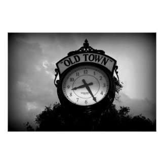 Old Town Clock Poster