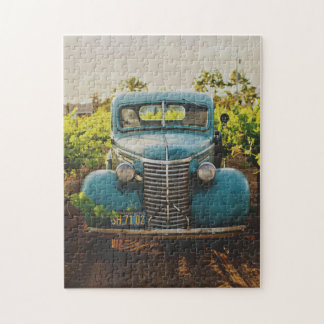Old Town Country Vintage Automobile Photograph Jigsaw Puzzle