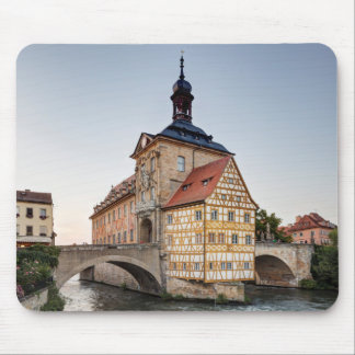 Old Town Hall and the Obere Bridge in Bamberg Mouse Pad