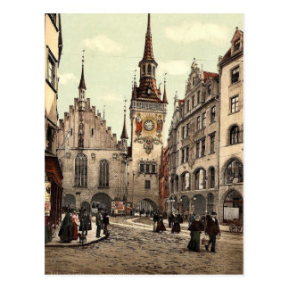 Old Town Hall, Munich, Bavaria, Germany magnificen Postcard