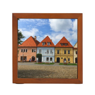 Old town houses in Bardejov, Slovakia Desk Organiser