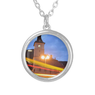 Old town of Brasov in Transylvania, Romania Silver Plated Necklace