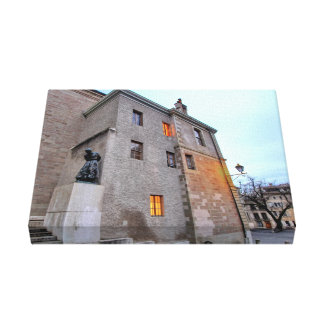 Old Town of Geneva Canvas Print