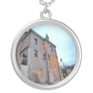 Old Town of Geneva Silver Plated Necklace