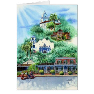 OLD TOWN, SAN DIEGO GREETING CARD