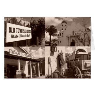 Old Town San Diego State Historical Park Collage Note Card