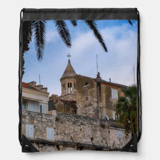 Old town, Split, Croatia Drawstring Backpack