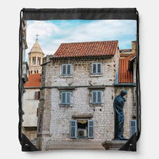 Old town, Split, Croatia Drawstring Bag