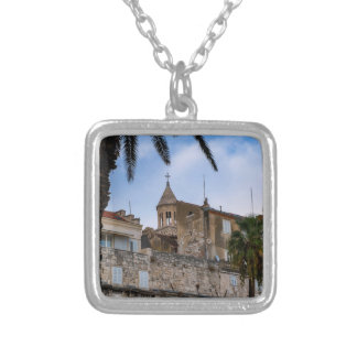Old town, Split, Croatia Silver Plated Necklace