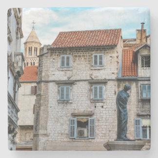 Old town, Split, Croatia Stone Coaster