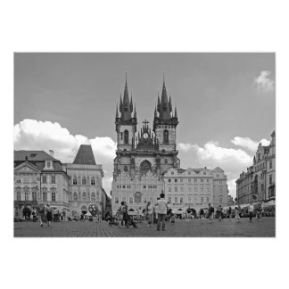 Old Town Square and Church of Our Lady Photo Print