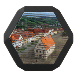 Old town square in Bardejov by day, Slovakia Black Bluetooth Speaker