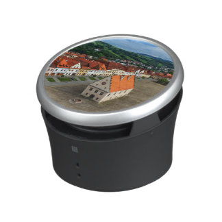 Old town square in Bardejov by day, Slovakia Bluetooth Speaker