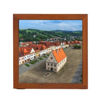 Old town square in Bardejov by day, Slovakia Desk Organiser