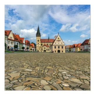 Old town square in Bardejov, Slovakia Card
