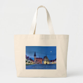 Old town square in Bardejov, Slovakia,HDR Large Tote Bag